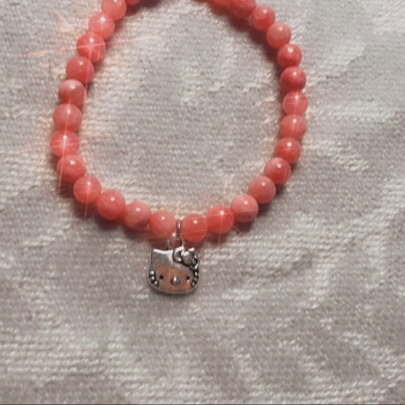 Hello Kitty Pink Quartzite Healing Bracelet